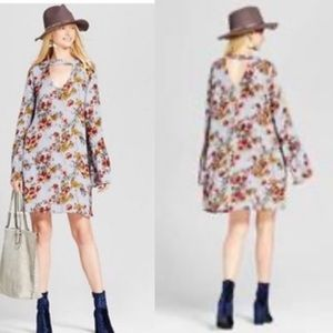 Mossimo bell sleeve floral print boho dress